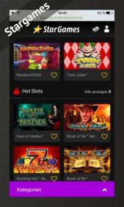 Stargames getestet via Android