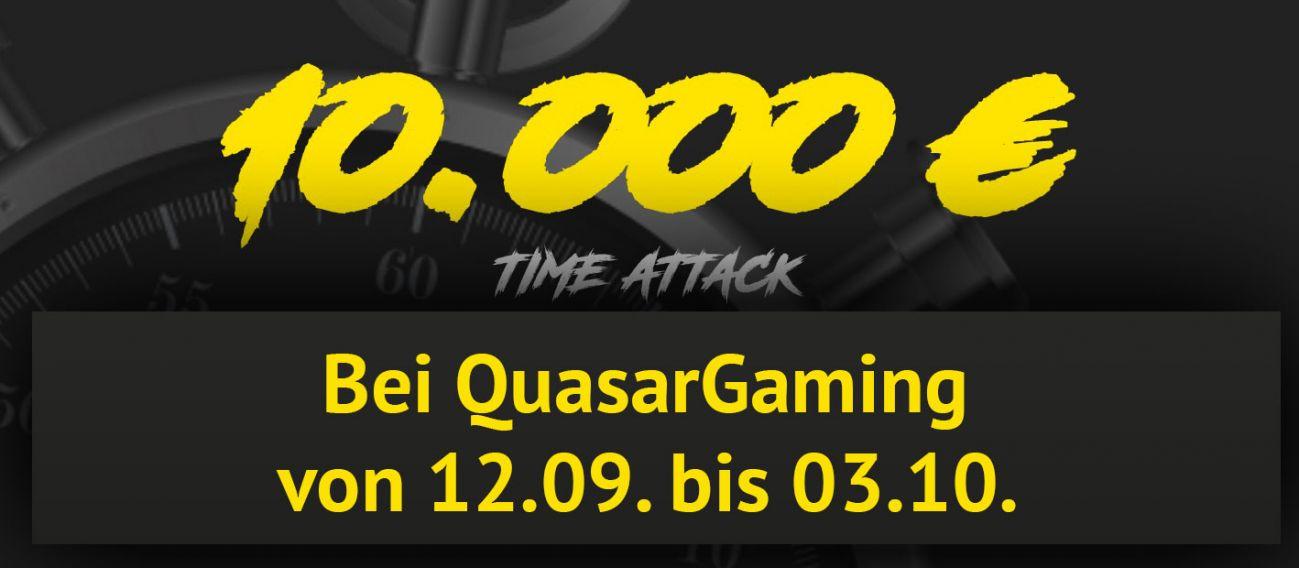 Die Quasargaming Time Attack laeuft von 12 September bis 03 Oktober