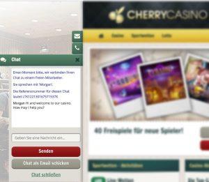 Live Chat im Cherry Casino inklusive telefonischer Kontaktaufnahme
